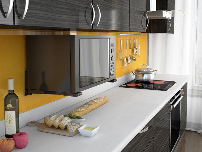 Картинки по запросу Микроволновая печь на кухне