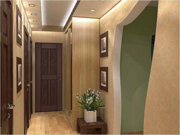 Foto dizayna malenkoy prihozhey v kvartire v panelnom dome
