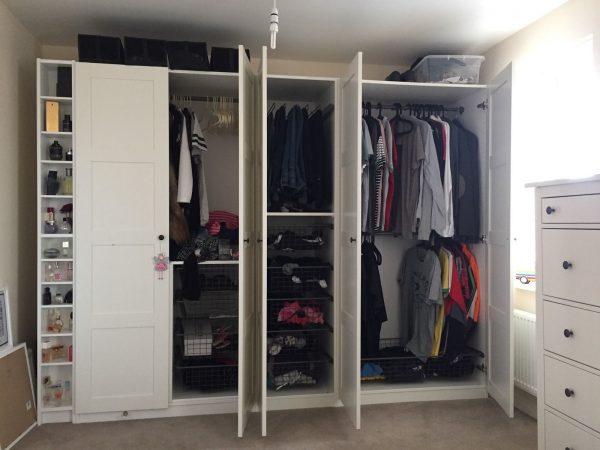 Ikea White Wardrobe Bergsbo 57