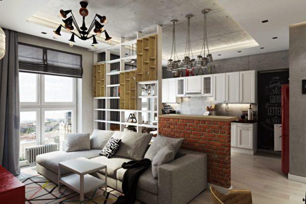 Чего стоит избегать во время ремонта квартиры-студии. Фото реальных интерьеров