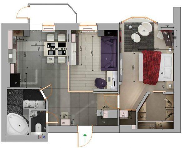 Kak sdelat dizajn proekt kvartiry samomu 1