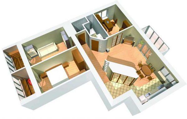 dizain proekt interyera kvartiri