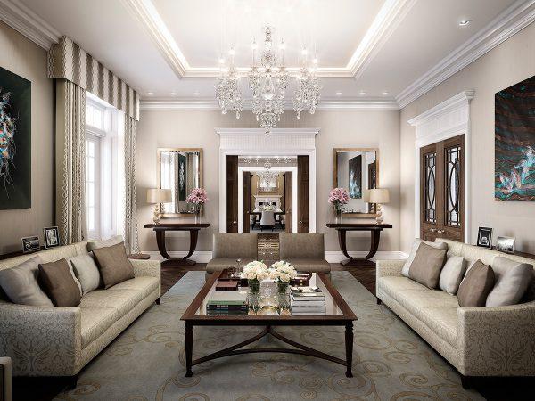 krasivyj interer komnaty v stile deko art